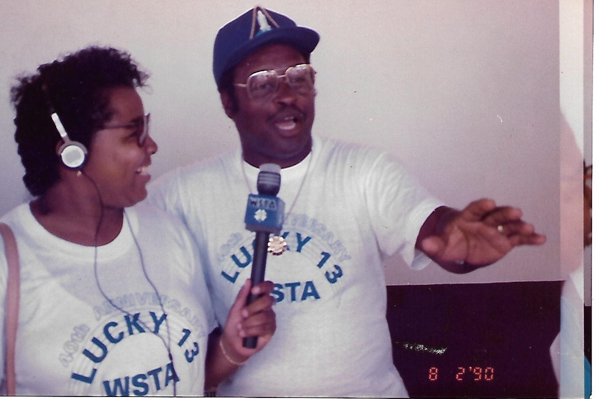 Anita and Brownie live on air circa 1990